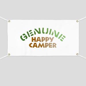 Genuine Happy Camper Banner