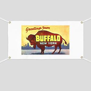 Buffalo New York Greetings Banner
