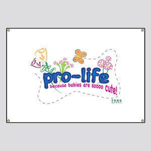 Pro-Life Flowers & Butterfly Banner