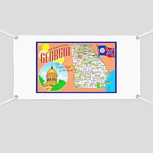 Georgia Map Greetings Banner