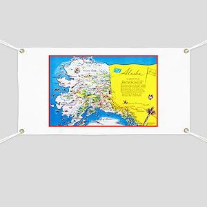 Alaska Map Greetings Banner
