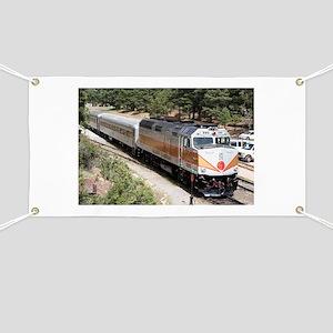 Railway Locomotive, Grand Canyon, Arizona, Banner