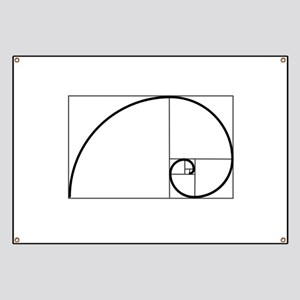 Fibonacci Spiral Banner