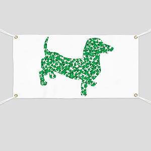 St. Patricks Day Dachshund Doxie Banner