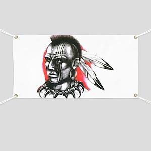Mohawk Indian Tattoo Art Banner