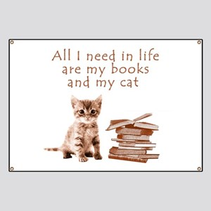 Cats and books Banner