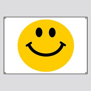 Yellow Smiley Face Banner