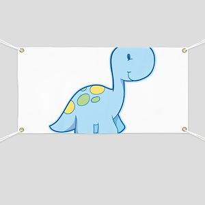 Cute Baby Dinosaur Banner