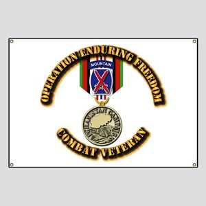 Operation Enduring Freedom - 10th Mtn Div Banner