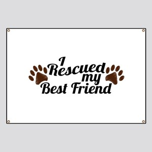 Rescued Dog Best Friend Banner