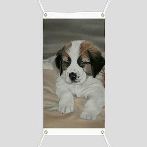 saint bernard puppy Banner
