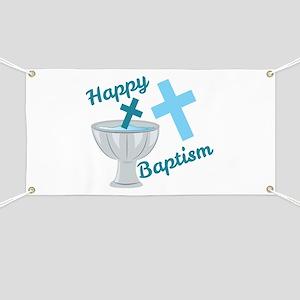 Happy Baptism Banner