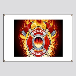 FLAMING FIRE RESCUE Banner