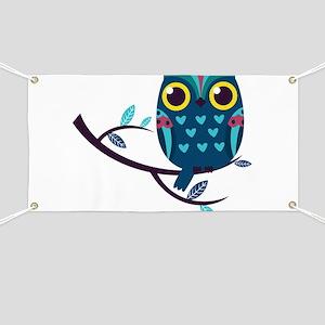 Dark Teal Owl Banner