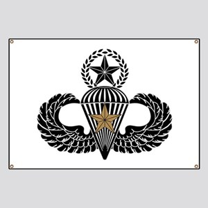 Combat Parachutist 1st awd Master B-W Banner