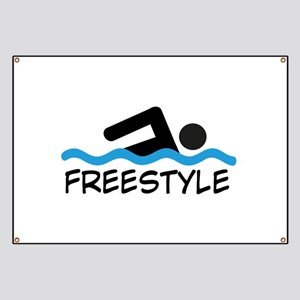Freestyle Swimming Banner