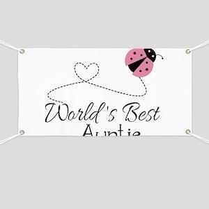 World's Best Auntie Ladybug Banner