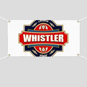 Whistler Old Label Banner