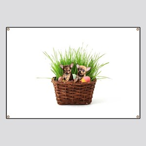 Easter Chihuahua puppies Banner