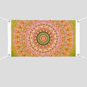 Happy Hippy Mandala Banner
