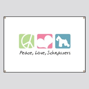 Peace, Love, Schnauzers Banner