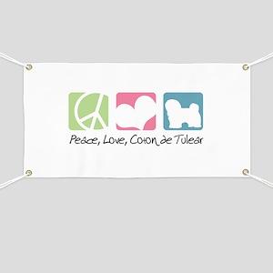 Peace, Love, Coton de Tulear Banner
