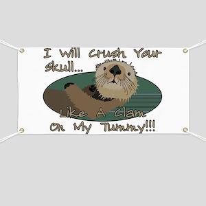 Otter Skull Crush Banner
