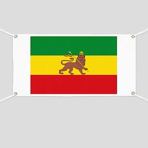 Ethiopia Flag Lion of Judah Rasta Reggae Banner