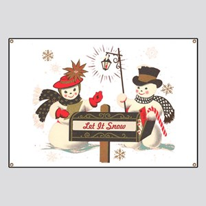 Let it snow snowman Banner
