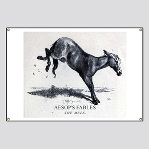 Harrison Weir - The Mule - Aesop - 1867 Banner