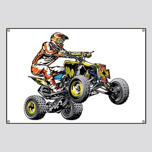 ATV Quad Racer Freestyle Banner