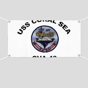 CVA-43 USS Coral Sea Banner