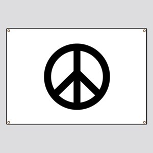 Black Peace Sign Banner