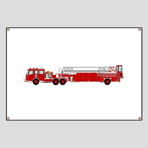 Fire Truck - Traditional ladder fire truck Banner