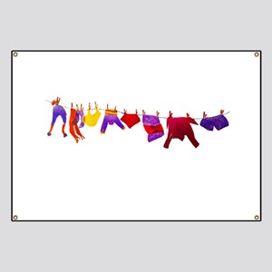Kids clothes drying Banner