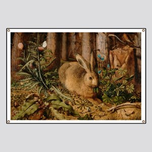 Hare In The Forest Banner