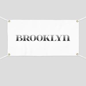 Brooklyn Carved Metal Banner