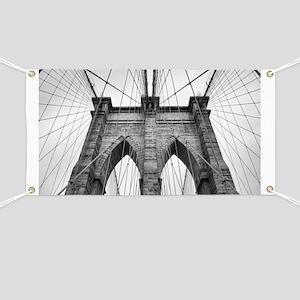 Brooklyn Bridge New York City close up arch Banner