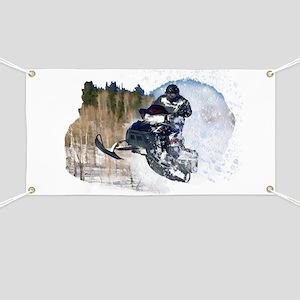 Airborne Snowmobile Banner