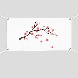 Cherry Blossom Flowers Branch Banner