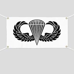 Jump Wings Stencil Banner