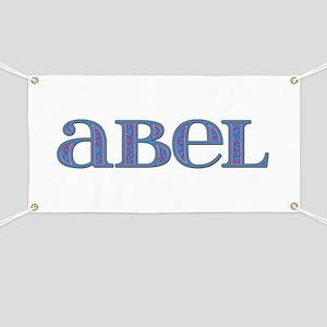 Abel Blue Glass Banner