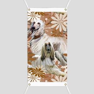 Afghan Hound Floral Banner