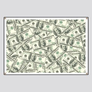 100 Dollar Bill Money Pattern Banner