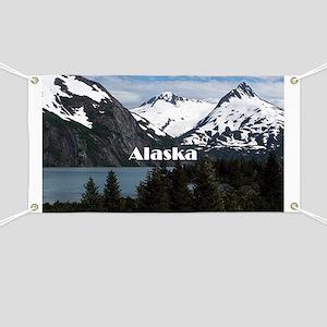 Alaska: Portage Lake and mountains Banner