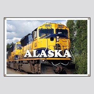 Alaska Railroad engine locomotive 2 Banner
