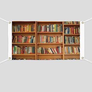 Bookshelf Books Library Bookworm Reading Banner