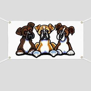 Three Boxer Lover Banner