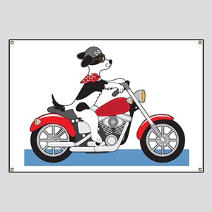 Dog Motorcycle Banner