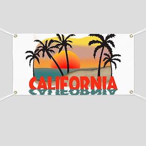 California Sunset Souvenir Banner